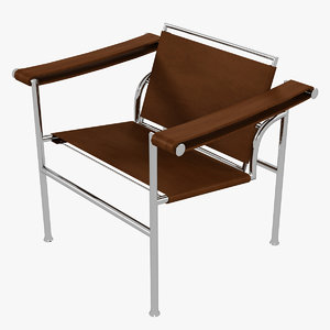minimalist le corbusier lc1 chair 3D
