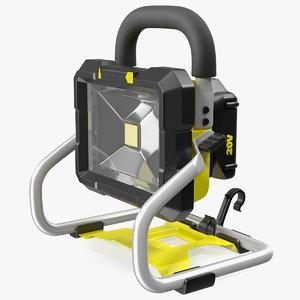 3D portable led work light model