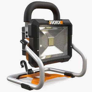 worx 20v portable led 3D model