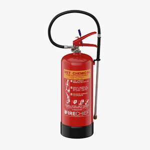 3D extinguisher wet chemical