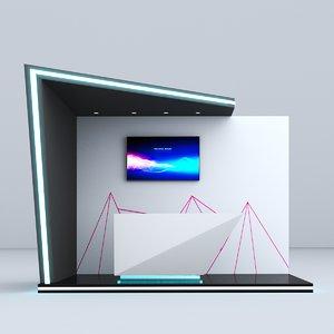 3D model futuristic booth