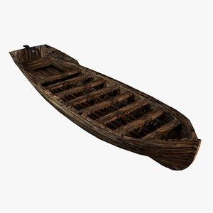old wooden boat games 3D model