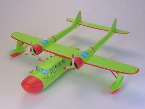 3D water plane cartoon