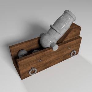 3D mortar gun