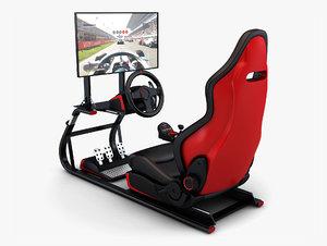 3D racing simulator display v model