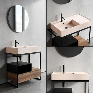 3D solid vanity unit 2