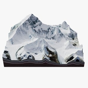photorealistic terrain mount everest 3D