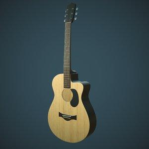 3D realistic acoustic guitar