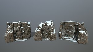 3D model buda temple