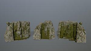 buda temple 3D model