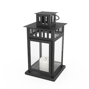 3D borrby lantern ikea model