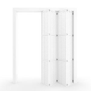 3D interior folding shutter door