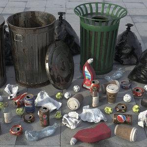 dustbin bag trash 3D