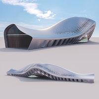 Futuristic building 17