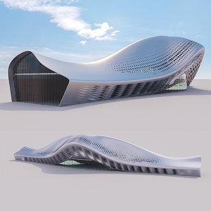 3D futuristic building 17