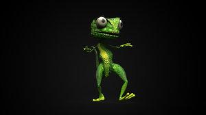 3D lizard rigged