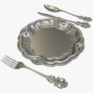 3D silverware x1 cnc silver