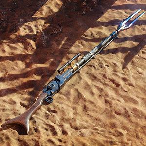 mandalorian amban rifle - model