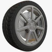 Aston Martin 7-Spoke Car Wheel