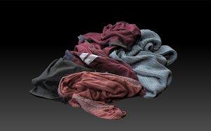 pile clothes 3D