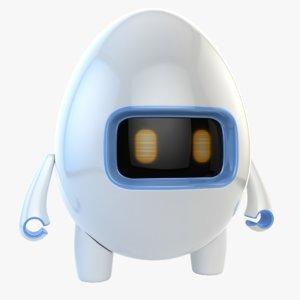 3D robot egg model