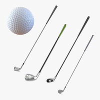 Golf Clubs and Ball Collection