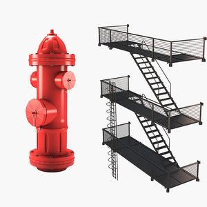 escape hydrant 3D model