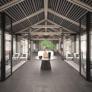 3D gazebo lounge furniture set