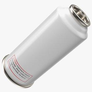 aerosol spray metal bottle 3D model