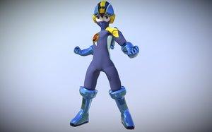 warrior megaman-nt 3D model