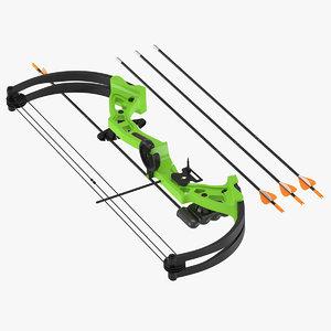 bow arrow 3D model