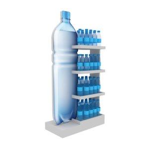 3D display water bottle