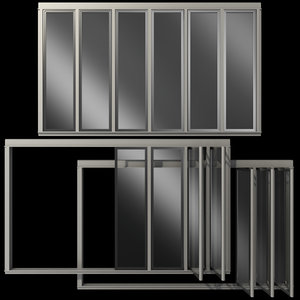 3D glass sliding partition walls