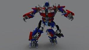 optimus prime 3D model