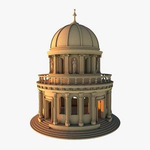 3D architecture building