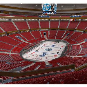 3D rena ice hockey