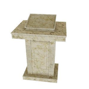 marble tribune 3D model