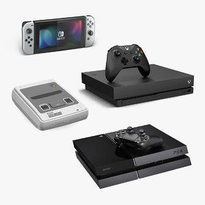 3D model consoles 2 gaming