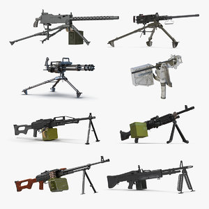 machine guns 2 3D model