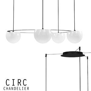 chandelier lamp 3D