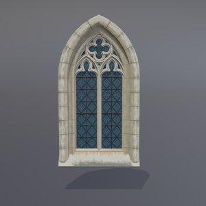 3D gothic window model