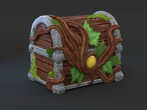 magic wooden chest model