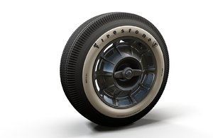 classic car highpoly wheel 3D model