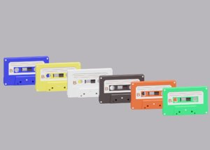 3D cartoon cassette tape