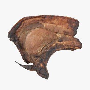 3D model cooked pork chop