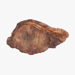 cooked pork loin steak 3D model