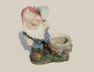 gnome flowerpot model