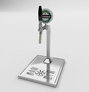 beer dispenser tap chopeira 3D