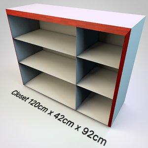 cabinet closet room 3D model