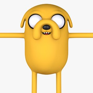 jack dog character 3D model